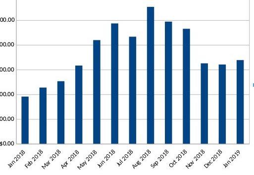 Graph of 2018 net cash balances